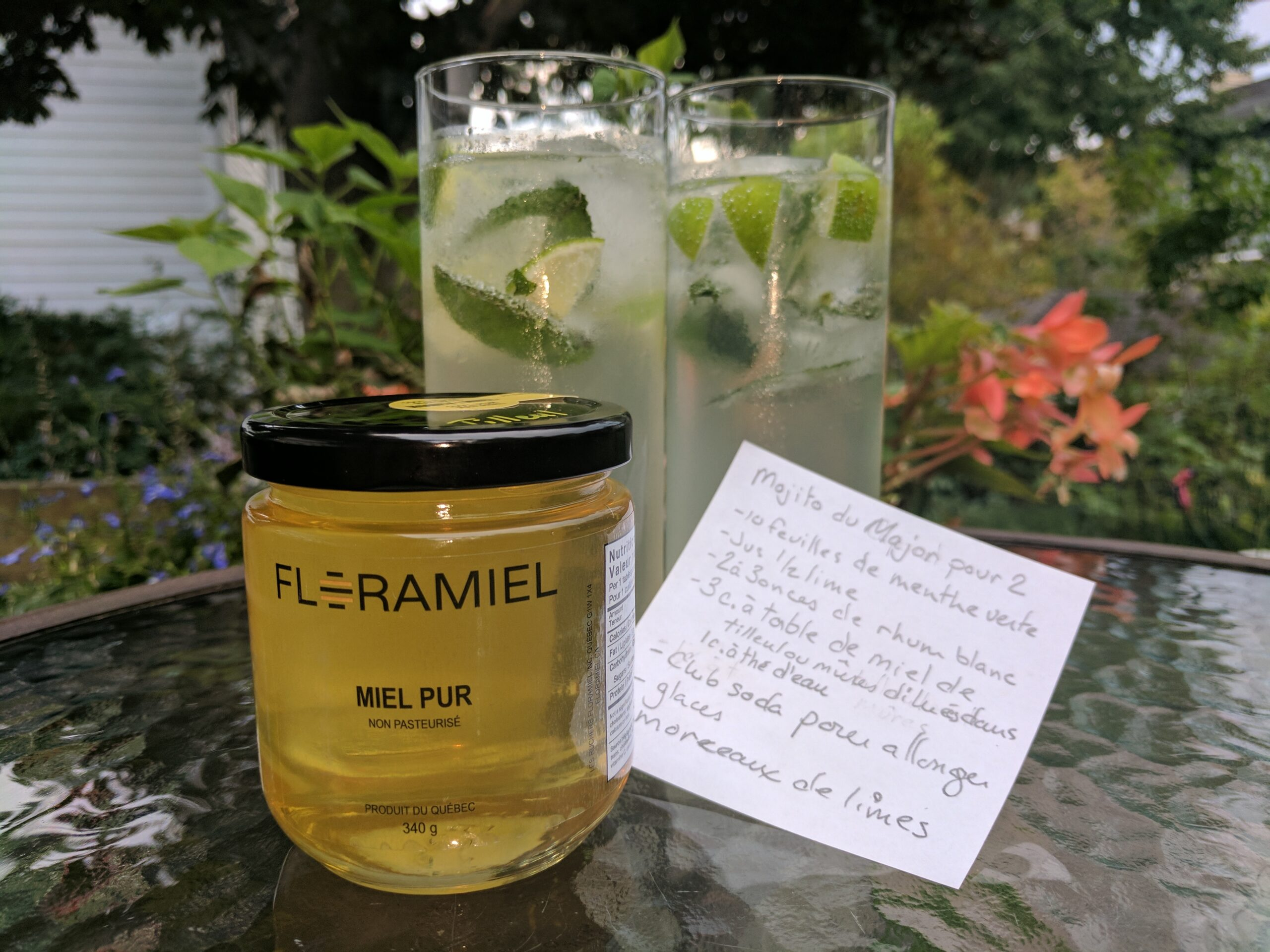 recette de cocktail - mojito à base de miel